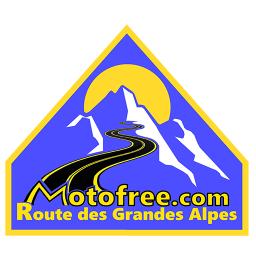 logo for La route des Grandes Alpes Motofree