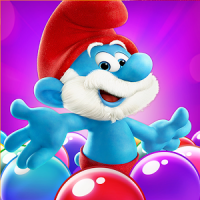 logo for Smurfs Bubble Story