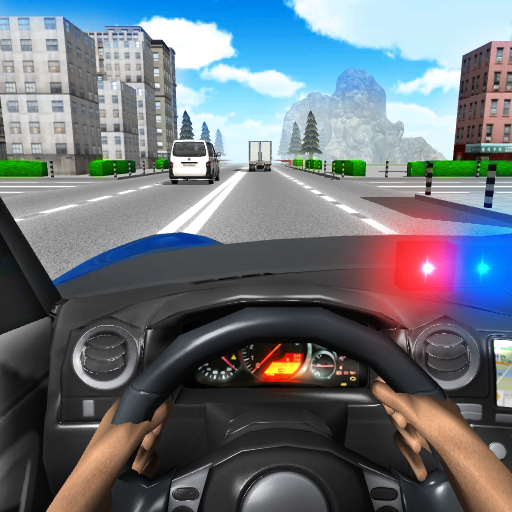 Image for Police Driving In Car